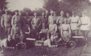 Отряд красноармейцев. Порховский уезд. Деревня Острицы. 1919 г.
