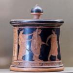 Свадебная процессия, пиксида, ок.460 г. до н.э., Париж, Лувр