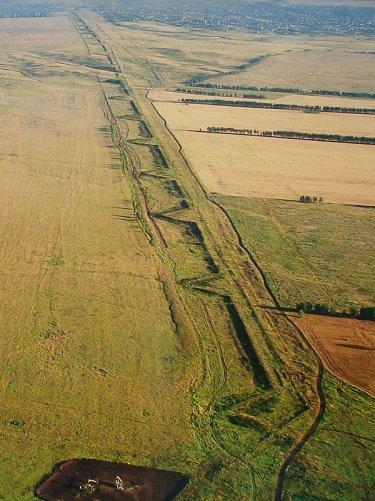 Древний Великий Русский оборонительный вал в Самарской области.